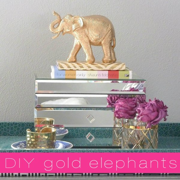 diy gold elephant home accessory